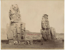 Egypte Colosses de Memnon Albuminé Vintage albumen ca 1875