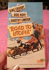 ROAD TO UTOPIA VHS WITH BING CROSBY, BOB HOPE, DOROTHY LAMOUR