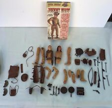Vintage Marx Best of West Johnny West Cowboy + Indian Figures Lot + Accessories