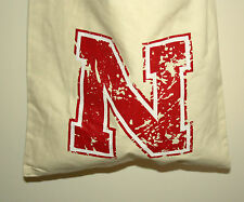 University of Nebraska CornHuskers Football Sports Canvas Book Bag New Tags