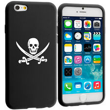 For iPhone 4 4s 5 5s 5c 6 6s Silicone Soft Rubber Case Cover Jolly Roger Pirate