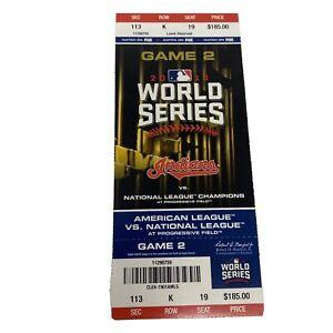 🔥2016 WORLD SERIES Season Ticket  FULL (GAME 2) Cubs vs Indians Near Mint!