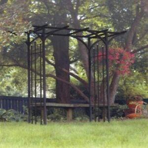 Panacea Flat Top Metal Garden Arch Black