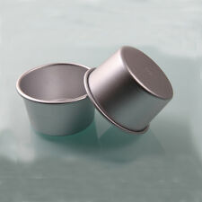 10 pc 3 inches Mini Round Cup Shape Smooth Plain Aluminum Alloy Cake Pie Mold