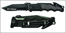 Smith & Wesson Border Guard SWBG2TS Liner Lock Folding Knife Partially Serrated