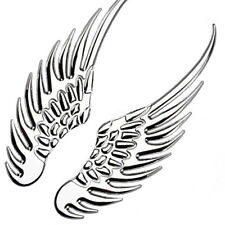 2x Car Styling 3D Stainless Steel Wings Decal Stickers Angel Eagle Wing Set
