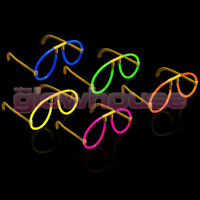 25x Glow Glasses - Glow Stick Bright Neon Glasses Parties Individually Wrapped