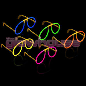 10x Glow Glasses - Glow Stick Bright Neon Glasses Parties Individually Wrapped