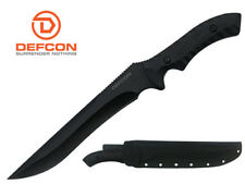 "Defcon Knife 14.5"" D2 Tool steel Full Tang Fixed Blade with Snap Sheath TD003BK"