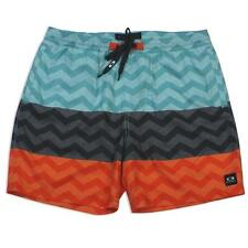 Oakley Johnny 4.0 Aqua Blue 36 XL Orange Mens Casual Cotton Shorts Walkshorts