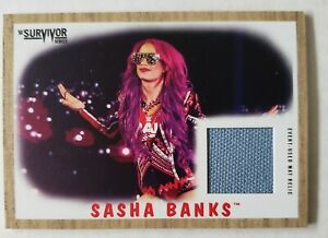 2017 Topps WWE Survivor Series Event-Used Ring Canvas Mat Relic Sasha Banks /199