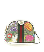 Gucci 499621 Small Ophidia Flora GG Supreme Coated Canvas Crossbody Bag