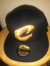 Gold On Black Team Hat Cleveland Cavaliers New Era NBA 9FIFTY Adult Snapback Cap