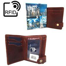 Prime Hide Kara 05 RFID Blocking Luxury Brown Leather Wallet New York Collection