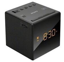 Used Sony Icf-C1 Am/Fm Alarm Clock Radio - Black With Black Face and Amber Led