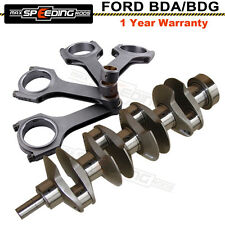 Crankshaft + Connecting Rods Rod for Ford X Flow Lotus Cosworth BDA BDG 77.62mm