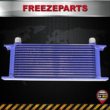 248mm Universal 15 Row AN10 10-AN Engine Transmission Aluminum Oil Cooler Blue