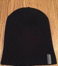 Columbia Black Youth One Size Beanie Toboggan Hat Acrylic New