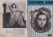 IL CANZONIERE DELLA RADIO rivista 1948 N.129 MARA MAURI PATTI DUGAN