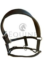 Deluxe Padded Leather Headcollar, Brown & Black - Pony, Cob, Full, Extra Full