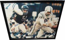 Johnny Unitas Dick Butkus Dual Signed Autographed 16X20 Photo Bears Colts COA