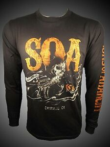 SONS OF ANARCHY SOA CHARGING GRIM REAPER CALIFORNIA LONG SLEEVE T SHIRT S-3XL