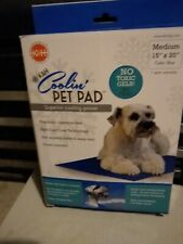 "K & H Pet Coolin Pad cooling dog cat new in box nib medium 15"" X 20"" blue"