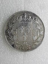 Belle Monnaie 5 FRANCS CHARLES X  Argent 1830 MA Marseille