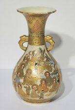 Antique Japanese Meiji Period Satsuma Vase Signed
