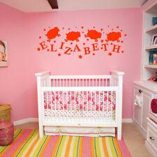 Wall Decal Custom Baby Name Lamb Star Gift Kids Children Nursery Letters M1182