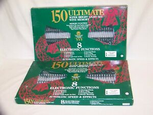 150 Ultimate Memory 8 Electronic Function Clear Christmas Light 2 Sets Holiday