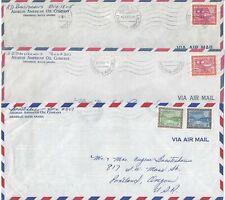 SAUDI ARABIA 1969 THREE ARAMCO AIR MAIL COVERS FRANKED W/GAS OIL PLANT & DAM ISS