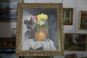 'Daisies ' Realism Large Original Acrylic Painting LGolden