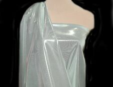 """LIQUID LAME FABRIC IVORY/SILVER 45"""" BY THE YARD COSTUME, FORMAL, CRAFTS, DECOR"""