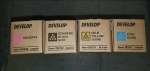 4 x Develop original Set Toner TN321 K C M Y Konica Minolta Ineo C224, C284,C364