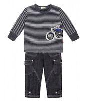 Details about  /Luxury LE TOP motorcycle STRIPE SHIRT /&  DENIM JEANS boy/'s set 12M 18M 24M 2Y 3Y