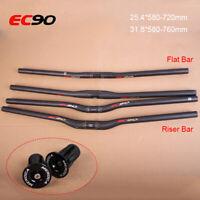 EC90 MTB Bike Handlebar Full Carbon Fiber Super Light 25.4/31.8mm Racing Bars