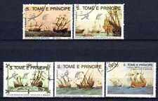 Bateaux St Thomas et prince (64) série complète de 5 timbres oblitérés