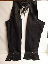 First Classic Leather Chaps UNISEX Deep Pockets Thermal XXL Style# L704 ExCond