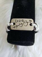 Leather Bracelet - inspirational