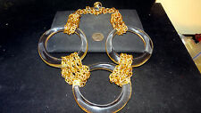 HOT Massive Oversized Couture signed JULIE RUBANO Vintage Runway Necklace estate