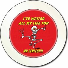 'Waiting for Mr Perfect' Car/Van Permit Holder/Tax Disc Gift, FUN-15T