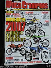 MAGAZINE MOTO CRAMPONS NOUVEAUTES 2007 EXCLU YAMAHA 450 WRF KAWA SUZUKI POSTERS