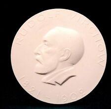KPM MEDAGLIA PLACCA Rudolf Virchow 1821-1902 Sigmund TELERUTTORE 1971 Ø 8cm
