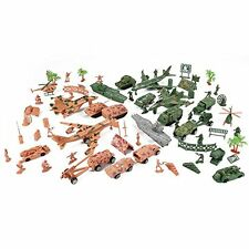 Deluxe Action Figures Army Men Soldier Military Playset Scaled Vehicles 73 pcs