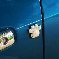 Universal Car Door Guard Anti collision Protect Trim Rubber Footprint Style 4X