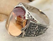 Thank God Islamic Ahlulbayt Men's Woman's Ring 925 Silver Champaign Zircon Stone