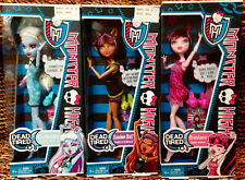 Lot Of 3 Monster High Dead Tired CLAWDEEN WOLF ABBEY DRACULAURA Dolls New in Box