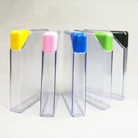 Clear Book Portable Paper Pad Water Bottle Flat Drinks Cup Kettle Eyeful 1PC AU