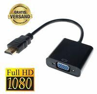 HDMI Stecker Auf zu VGA Buchse Kabel Adapter Konverter Videokabel Laptop PC